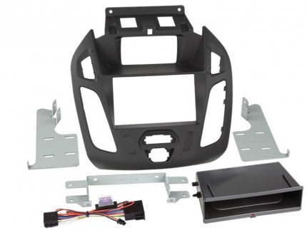 2-DIN Radioblende Inbay® Ford Transit Connect(Display) schwarz 2013 >