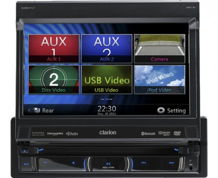 CLARION NZ502E 1-DIN All-in-one DVD-Multimedia-Navigationssystem